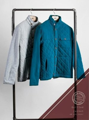【YOYOGI PLUS】ADLIB - 鋪棉菱格紋外套 (灰/藍綠:S~L) 原2880