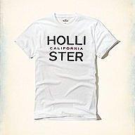 Hollister 加州字母款式,美國海鷗男士短袖T恤纯棉休閒T恤 【HCO全新品】