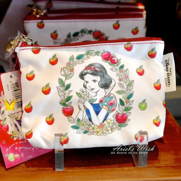 Ariel's Wish日本東京迪士尼白雪公主小矮人紅蘋果Afternoon Tea聯名款面紙包面紙套化妝包零錢包-絕版
