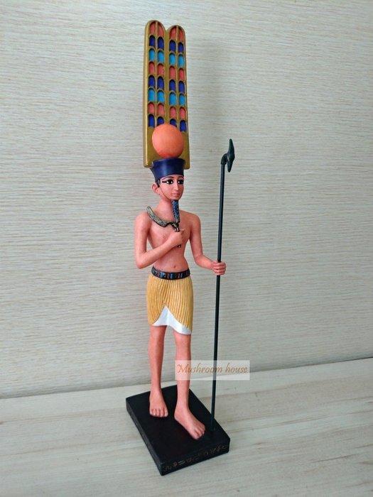 點點蘑菇屋 歐洲進口彩繪古埃及阿瑪瑞法老王擺飾 埃及文明 古文 圖騰 Egypt 藝術 家飾 現貨