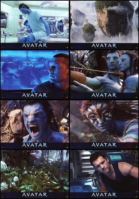 阿凡達 Avatar - 詹姆斯卡麥隆 - 原版戲院展示宣傳電影劇照一組八張 (2009年)