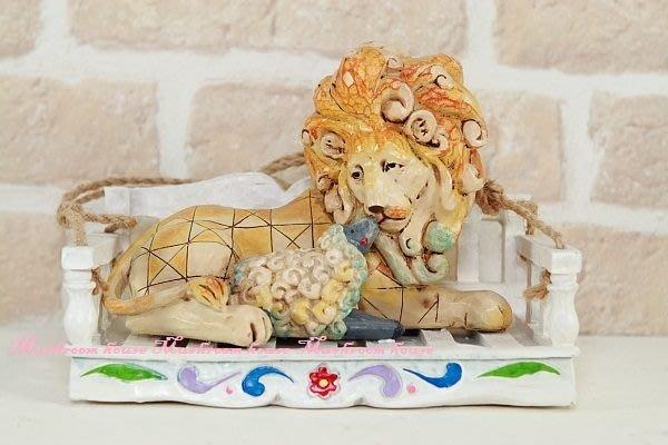 點點蘑菇屋{吊飾}美國JS精緻家飾-獅子與羔羊 彩繪仿木雕刻紋 客廳擺飾 庭園吊飾 現貨