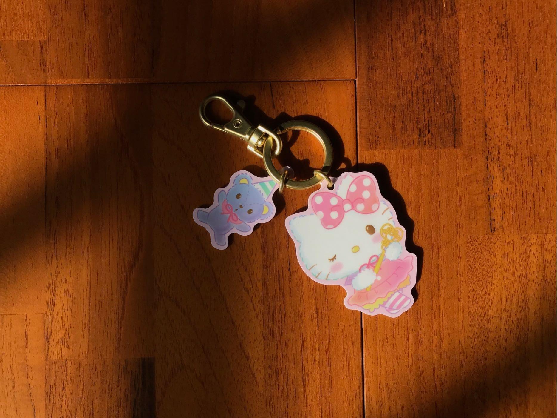 最後ㄧ套卡號88🍎HELLO KITTY 粉紅魔法造型鑰匙圈悠遊卡/全新收藏/禮物