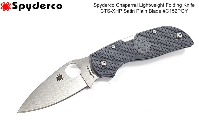 【angel 精品館 】SPYDERCO CHAPARRA LIGHTWEIGHT灰炳折刀CTS-XHP鋼C152PGY