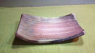 (店舖不續租清倉大拍賣)簡銘炤先生--柴燒長形盤,原價3980元特價2000元