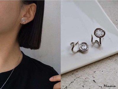 [現貨] 韓-蜿蜒 純銀針 耳環