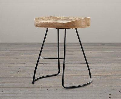 【台大復古家居】實木 馬鞍椅 OAK TRACTOR SEAT CHAIR 咖啡廳【胡桃木 餐椅 現貨】