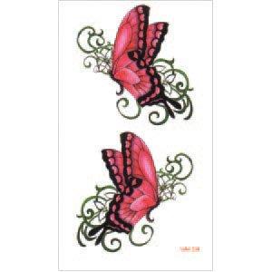 【萌古屋】M系列桃紅蝴蝶 - 男女防水紋身貼紙原宿刺青貼紙WM-204