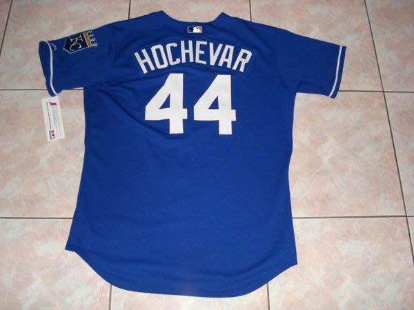 MLB KC ROYALS #44 LUKE HOCHEVAR AUTHENTIC NAVY JERSEY