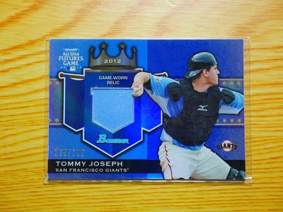 Tommy Joseph 2012 Bowman Future Game Relic 新人 球衣卡 限199