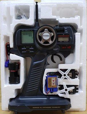 【車車共和國 】SANWA 三和 MX-3S TX/RX雙變頻 槍型遙控器(單接收) + SERVO  2顆