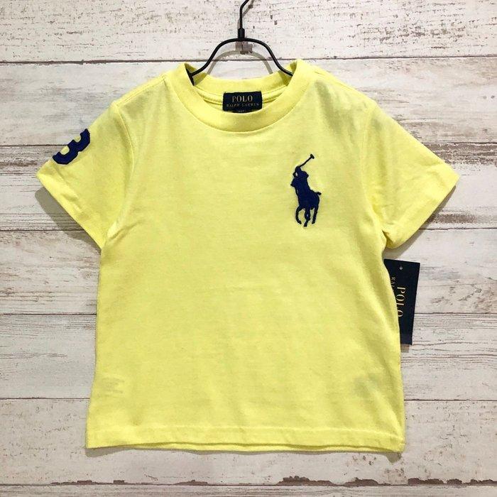 Maple麋鹿小舖 美國購買童裝品牌POLO RALPH LAUREN 男童亮黃色LOGO短T* ( 現貨2T/3T )