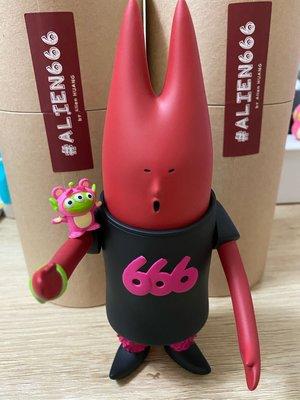 現貨 Alien 666 bravo版 紅黑 黃鴻升 小鬼 公仔