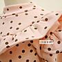 小森童舖 秋冬 韓版 內刷毛厚款 女童系列 點點造型公主袖 長袖 上衣 粉紅色 5.7.9.11.13.15號