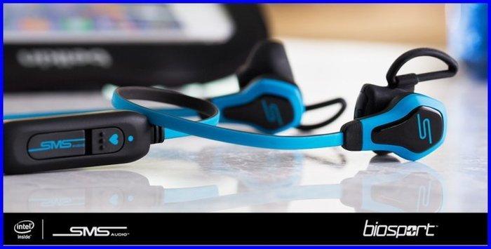 【限量特賣】SMS Audio x Intel BioSport 生物辨識 測心跳運動耳機 防水 裸裝全新公司貨