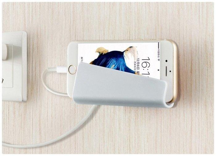 【無痕充電支架】可重覆黏貼手機充電座 牆面牆壁手機座 平板手機架 托架 ☆意樂舖☆