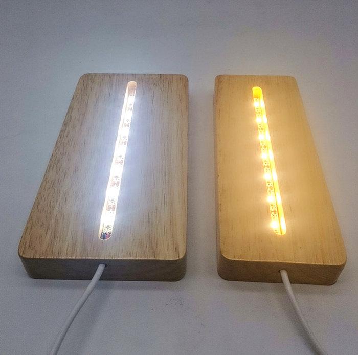 MARS火星人◎ 長方形木質LED底座 ◎3D立體金屬拼圖 (創意diy金屬模型-蝕刻片-拼酷)