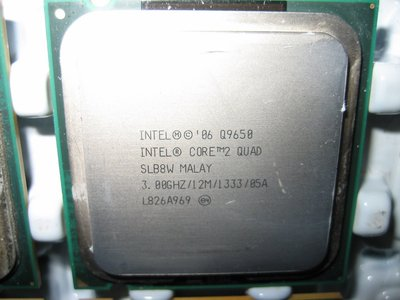Intel Core 2 Quad Q9650 SLB8W E0 正式版 3.0G/12MB/1333Mhz(Q9550