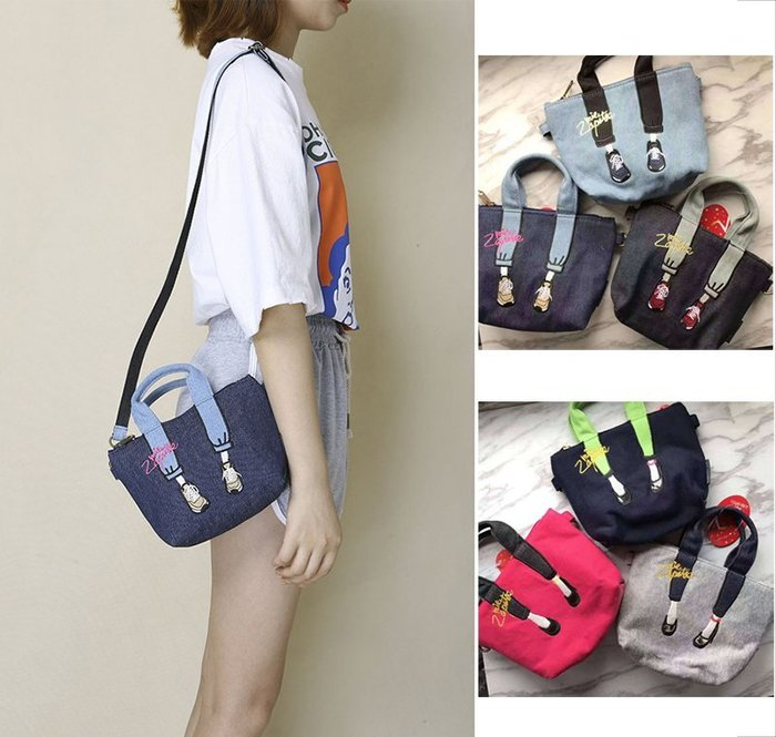 日本Mis zapatos 刺繡高跟鞋牛仔褲 帆布包包 美腿包 零錢包 票卡夾 錢包 手拿包 卡夾 悠遊卡 斜背包 卡套