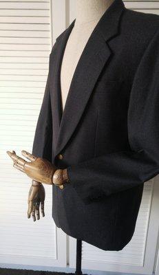 Christian Dior CD Logo金釦迪奧DIOR Sport 純羊毛鐵灰單排兩扣西裝上衣