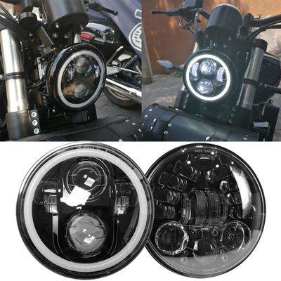 【可開發票】義騎V8 飛翎 長江400 創新三陽250摩托車改裝LED天使眼前大燈總成[國際購]
