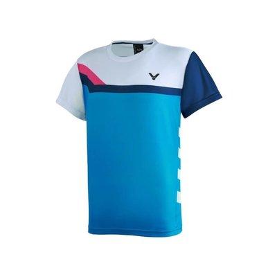 (羽球世家)【+0免運】勝利 戴資穎 Crown Collection 賽服推廣版 中性 S-2010 水藍底賣場 撞色短袖T恤 比賽服