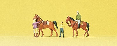 傑仲 (有發票) 博蘭 Preiser 人物組 At the riding school 79186 N