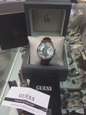 斯文百搭機械錶GUESS(古斯).【瑞士機芯 瑞士製造 藍寶石鏡面】自動機械男錶 42mm錶盤 雙面穿透