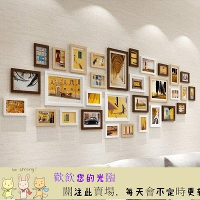 簡約現代客廳網格照片牆裝飾相框牆掛牆創意組合懸掛歐式相片牆YTL· 首爾·站