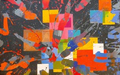 TCP作品【The carnival of colors】油畫CE-0010 無框畫 抽象畫 當代藝術
