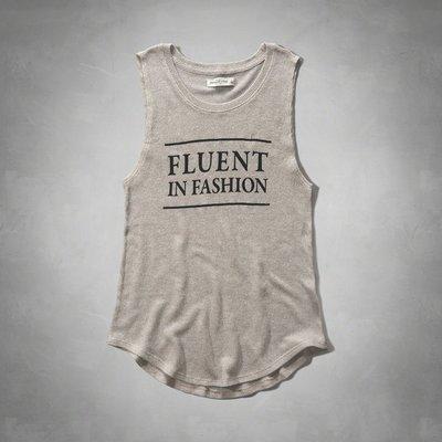 Maple麋鹿小舖 Abercrombie&Fitch * AF 淺咖啡色針織背心上衣 * ( 現貨M號 )