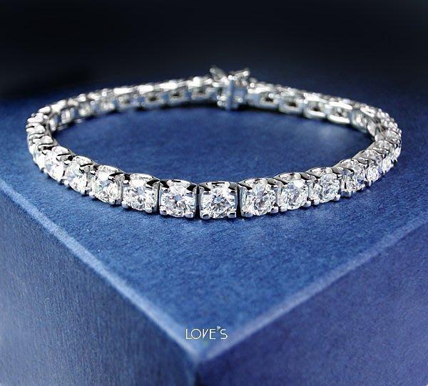 【LOVES鑽石批發】天然鑽石手鍊-8分C形款-3.44克拉D color-H&A-18K金-另售鉑金/白金 LOVES DIAMOND