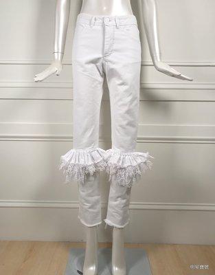 [我是寶琪] Preen by Thornton Bregazzi 白色牛仔褲