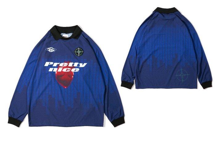 { POISON } PRETTYNICE URBAN POLO SHIRT 歐陸舞曲元素 滿版昇華印刷 足球衣套裝