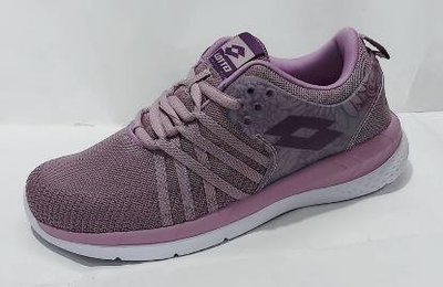 北台灣大聯盟 LOTTO 女款花漾雙密度緩震釋壓跑鞋 6827-藕紫 超低直購價490元  只剩22.5和23號