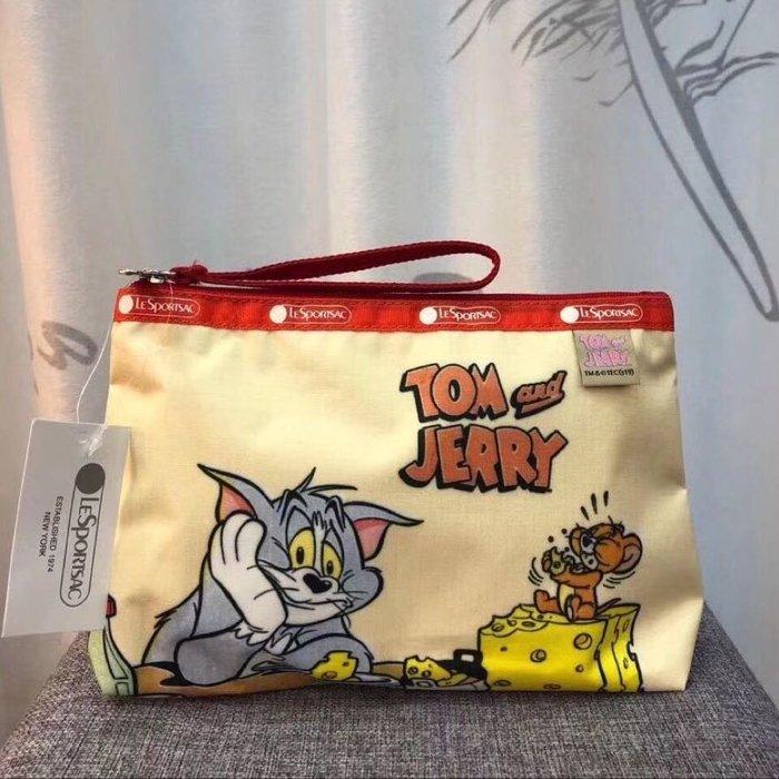 LeSportsac 湯姆貓與傑利鼠 Tom & Jerry 聯名款8236 手拿包 化妝包 降落傘防水 限量