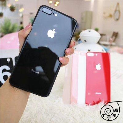 丁丁 iPhone X 鋼化玻璃背膜 7 8 PLUS 蘋果 6 6s plus 防摔防磕 蘋果手機同款顏色後蓋保護膜