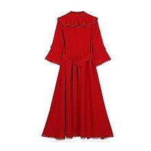 ins明星同款女裝唐人街探案張鈞新款寧甯明星同款玫瑰紅色新長裙氣質名媛連身裙女2020春OP60