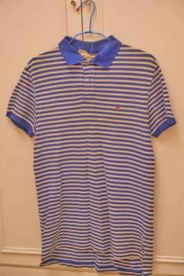 Ralph polo Jeans RL 藍色條紋國旗 Polo 衫  M號