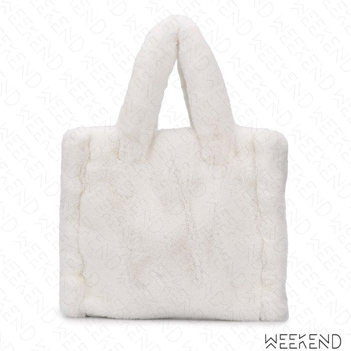 【WEEKEND】 STAND STUDIO Lolita 鋪毛 手提包 托特包 白色