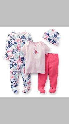 #121C615 Carter's Baby clothes bb衫 初生嬰兒 一套4件如圖 包平郵 100% 全新正貨