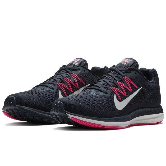 Nike Zoom Winflo 5 黑 桃紅 緩震 透氣 訓練 慢跑鞋 女 AA7414-401☆SP☆