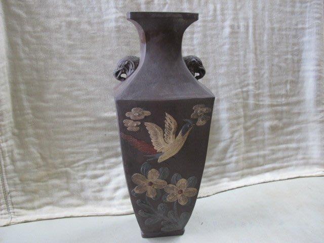 二手舖 NO.2108 中國古陶 花瓶擺件 老件收藏