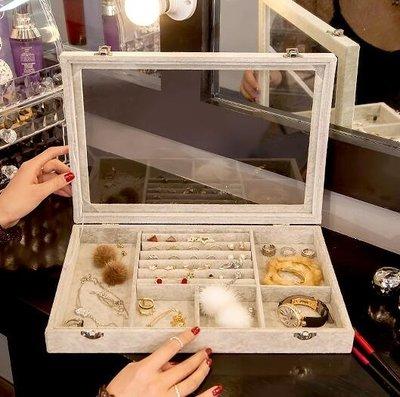 首飾盒 kaman首飾收納盒簡約透明飾品耳環戒指多格公主歐式防塵結婚禮物   全館免運
