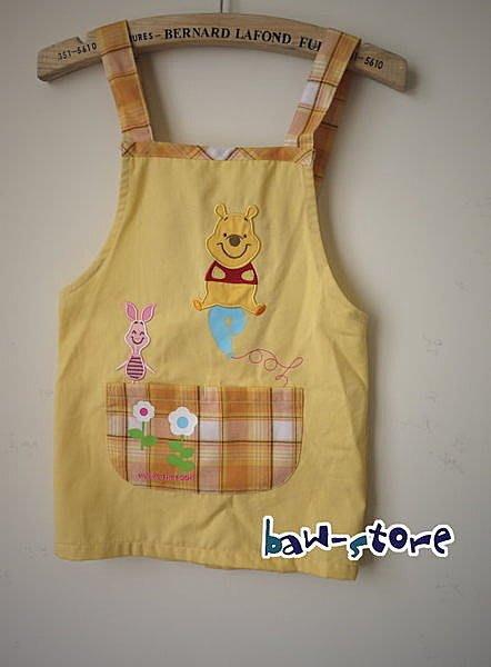 單品 ~~超可愛 小熊維尼Pooh 刺繡 畫畫衣 男童 女童 圍裙 兒童圍裙~黃 95cm
