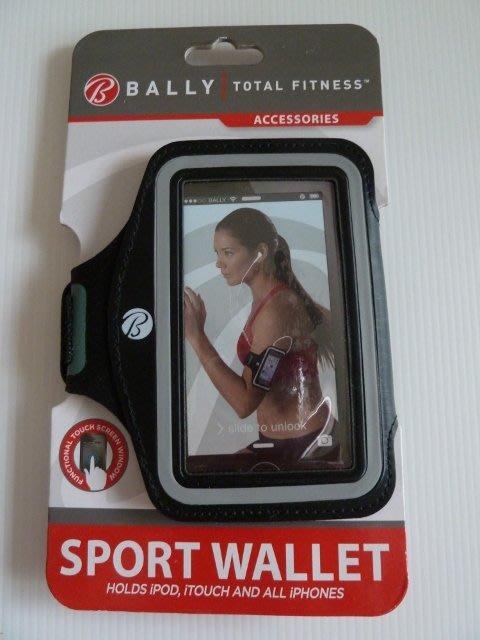 Bally Total Fitness Sport Wallet 黑色慢跑用手機 iPod