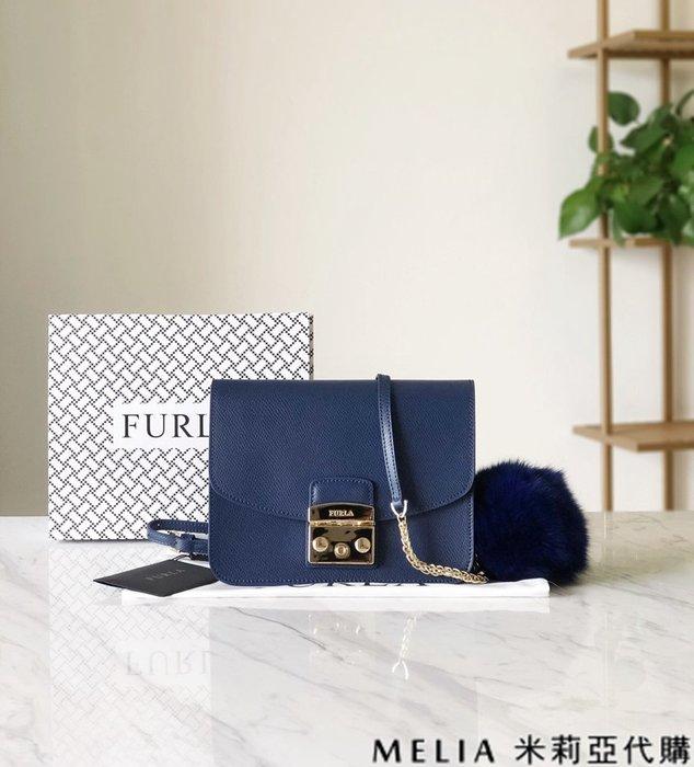 Melia 米莉亞代購 商城特價 數量有限 每日更新 19ss FURLA 芙拉 單肩斜背包 中號 送兔毛吊飾 藍色