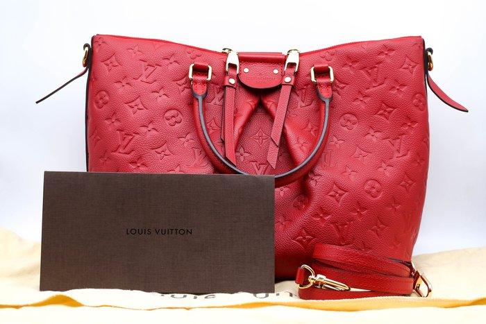 【青蘋果】Louis Vuitton LV M50641 Mazarine MM 經典花紋皮革托特包#15294