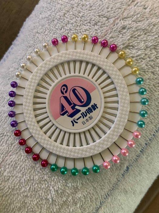 圓盤珠針40隻~毛線、棉線披肩定形 ~ 手工藝材料、進口毛線、編織書、編織工具☆彩暄手工坊☆
