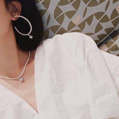 配飾耳環項鏈戒指新款韓國高級感短款珍珠項圈耳環女氣質長款圓圈簡約耳釘網紅項鏈